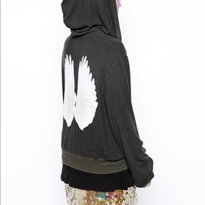 Wildfox Angel Wings Zip Hoody